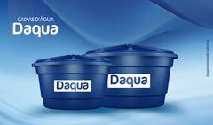 CAIXA D AGUA DAQUA C/TAMPA  500L AZ