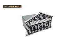 CAIXA METAL P/CARTA TIJOLINHO PRATA