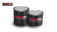 MASSAFIX PLASTICA CINZA  400GR