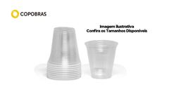 COPO COPOBRAS TRANSP PLAST 200ML C/2500