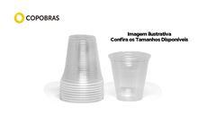 COPO COPOBRAS TRANSP PLAST 300ML C/2000