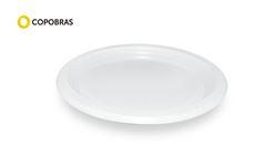 PRATO COPOBRAS PLAST 15CM BRANCO C/500