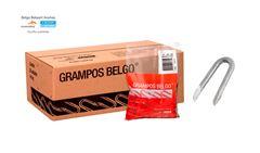 """GRAMPO P/CERCA BELGO 19X10 (7/8""""X9) GALV"""