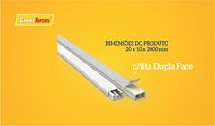 ENERBRAS CANALETA FT DP 20X10 2M BR C/25