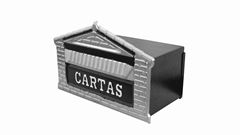 CAIXA P/CARTA TIJOLINHO ZINC PRATA 15X25