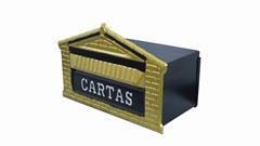 CAIXA P/CARTA TIJOLINHO ZINC DOURAD 15X25